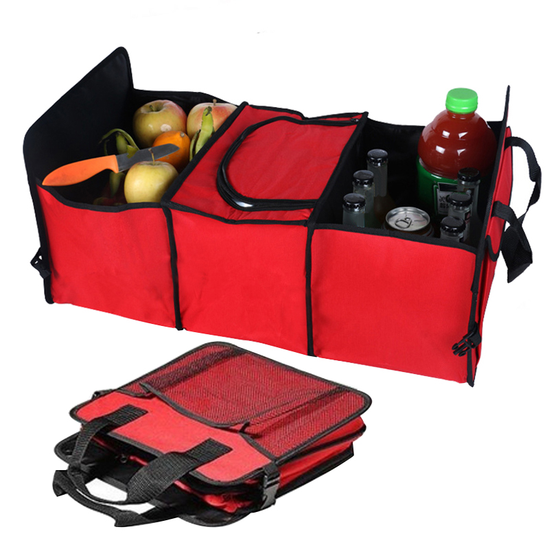 Auto Rear Rack Storage Box Organizer Drink Food Insulation Ice Basket Car Tool Container Automobiles Interior Accessories Items