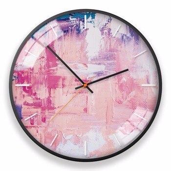 New 3D Wall Clock Abstract Contrast Color Clocks Ultra Quiet Quartz Clock Accurate Sweeping Seconds Wall Clock Home Decoration