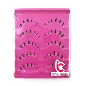 Image 4 - ICYCHEER 5 Pairs makyaj sahte kirpikler el yapımı 3D doğal altında takma kirpikler alt alt kirpik uzatma