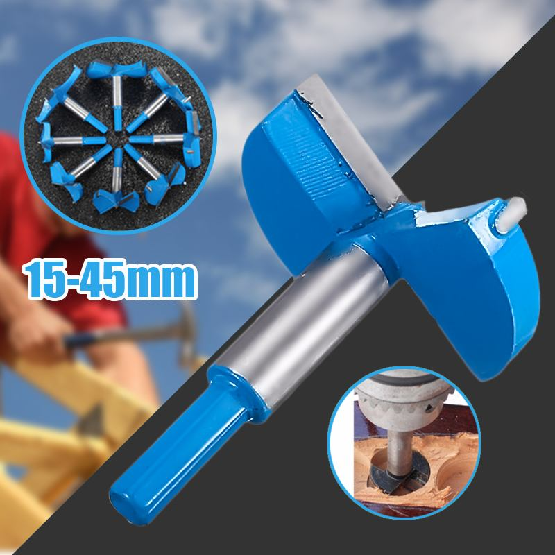48-90mm Drill Bits Cemented Carbide Forstner Boring Woodworking Hole Saw Cutter