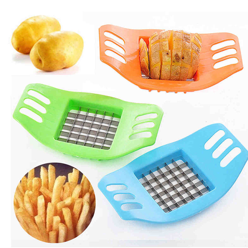 ABS Stainless Steel Potato Cutter Slicer Chopper Kitchen Shredders Cooking Tools Gadgets image