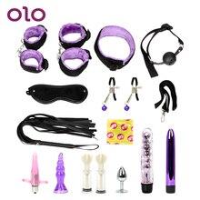OLO Bondage Vibrators Set Anal Plug Slave Restraint Flirt Handcuffs Sex Toys For Couples Erotic ToysSex Products Adult Games