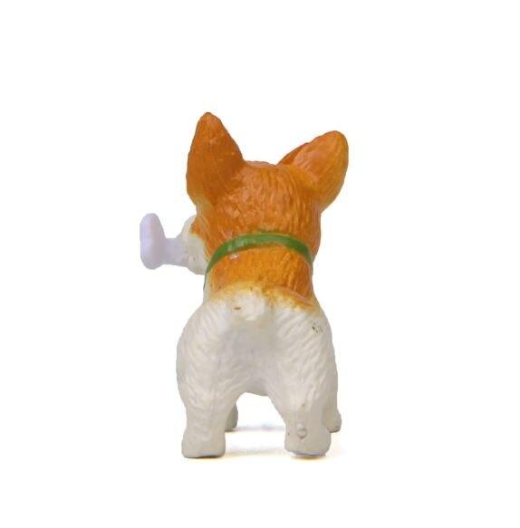 1 Pc Cute Bones Corgi Dog Action Figure Toy Cartoon Animal Model PVC Ornament Doll Toy-3