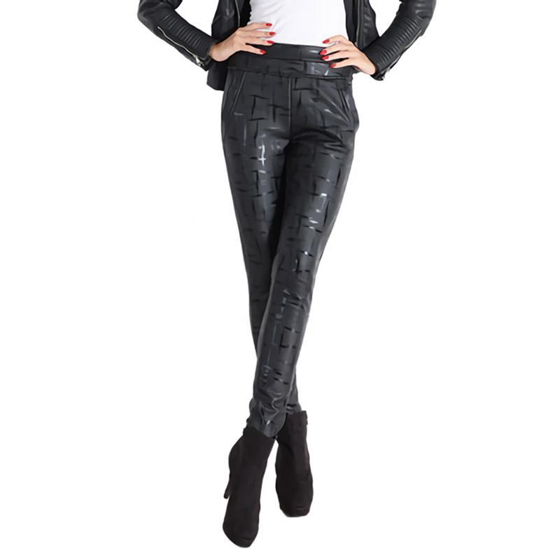 Leggings Damas Imitación a Carga Otoño Bodycon Cuero Invierno Ropa Pantalones E B Fina Sexy Lana Pu Mujer De Z8RZxwq6F