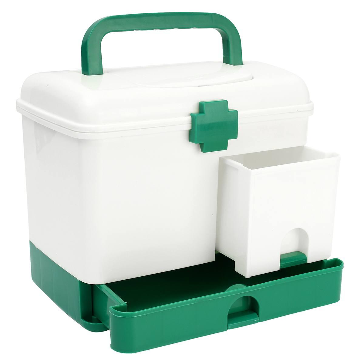 Casa 3 camada medicina gaveta caixa de primeiros socorros saúde kit armazenamento bin organizador caso modelo médico portátil grande capacidade