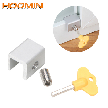 HOOMIN Aluminum Restrictor Anti-theft Window Cable Limit Safety Key Lock Home Improvement For Children Security Door Window Lock