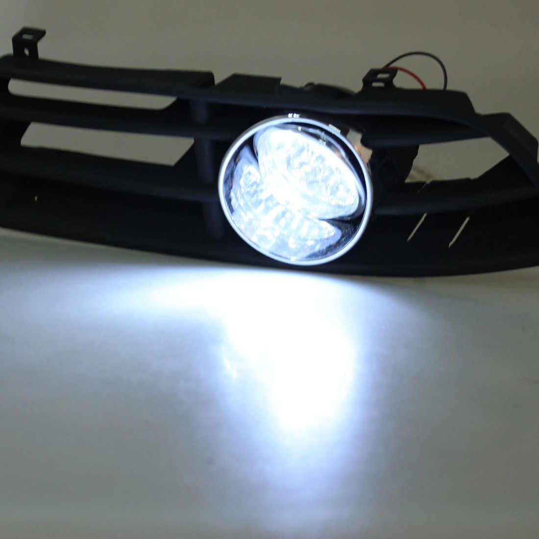 1 пара 55 Вт Автомобильный светодиодный противотуманный фонарь решетка бампера с жгутом для VW JETTA BORA MK4 1999 2000 2001 2002 2003 2004
