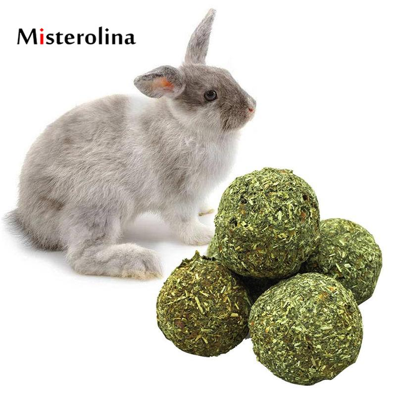 Misterolina Hamster Carrot Grass Toy Ball By Hand Pet Rabbit Bake Ball Healthy Tooth Long Storage Time Snack For Small Animals