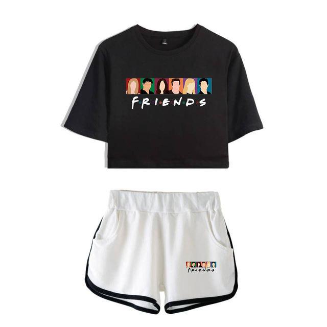SET FRIENDS CROP TOP & PANTS (16 VARIAN)