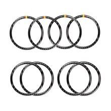 Для Mercedes Benz W205 C180 C200 C300 GLC260 4 шт./компл. углеродное волокно Автомобильная дверь динамик кольцо Громкий динамик наклейка крышка