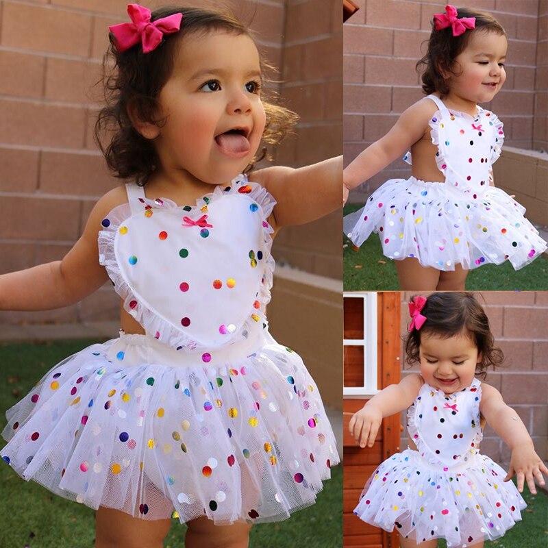 Pudcoco bebê recém-nascido da menina macacão vestido de lantejoulas dot tule tutu vestido outfits da criança do bebê meninas roupas verão sunsuit