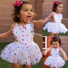 Dot Tulle Tutu Dress Romper Newborn Baby Girl Clothes