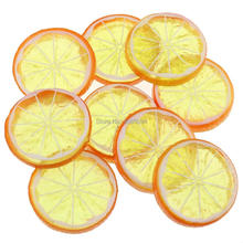 Gresorth 9 PCS Artificial Orange Lemon Slices Collection Fake Fruits Decoration Photography Props