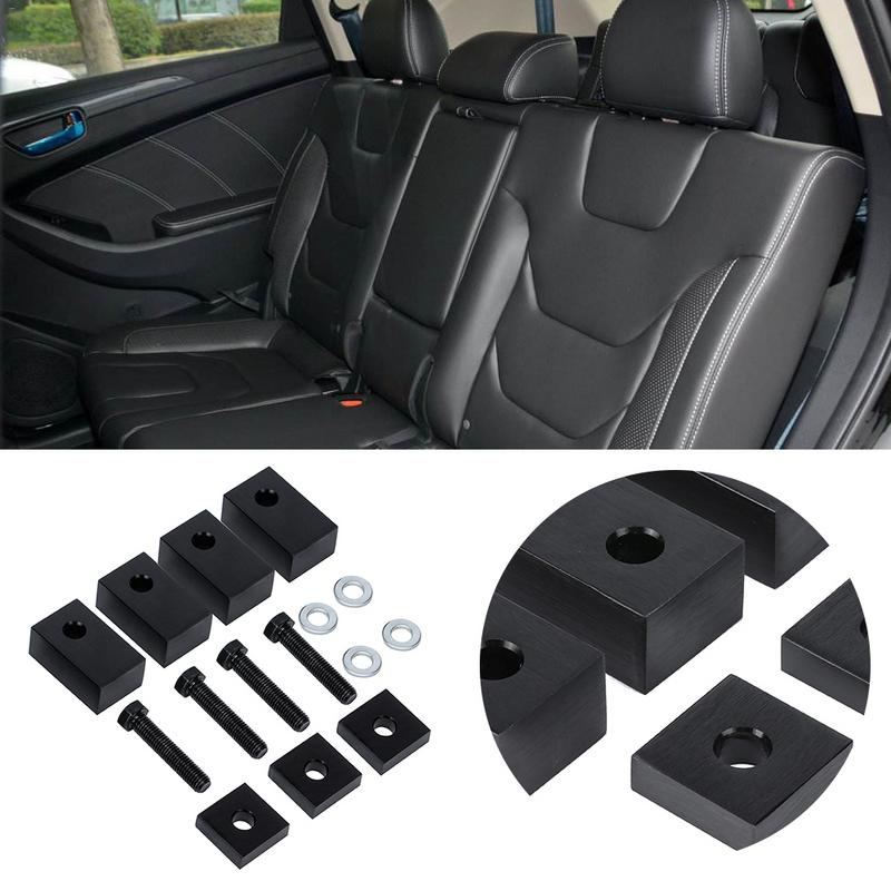 Car Accessories Metal 15 Pcs/set Seat Spacers + Bolts Rear Seat Recline Kit Tool Fit For Jeep Wrangler 2007-2017 Car-Styling