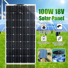 Flexible Solar Panel Plate 100W 12V Solar Charger for Car Battery Charging 18V Monocrystalline Cell Module