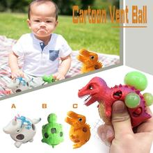 Cute Animal Dinosaur Quishy Slow Rising Toy Cute Mochi Squishy Cat Slow Rising Squeeze Vent Cartoon Toys-cashback
