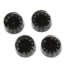 4 шт. ручки регулировки скорости громкость тон ручки части для Gibson Les Paul замена аксессуары для электрогитары(черный