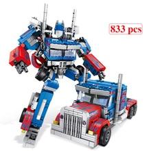 Building Block Bricks Robot Car DIY Educational Blocks Toys Anime Transformation Compatible Legoings