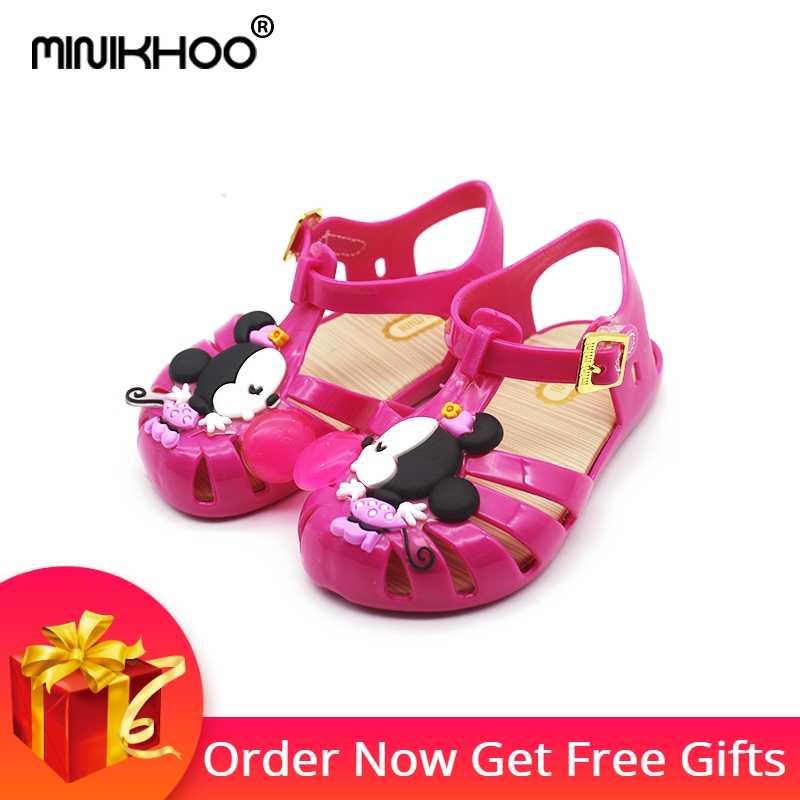 91531bb8c4a7 Mini Melissa 2018 Jelly Sandals Mickey Minnie Roman Girls Sandals Children  Shoes Melissa Girls Shoes Girls