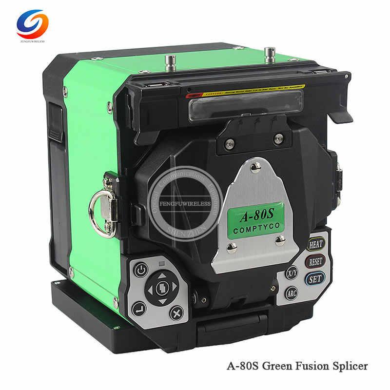 Бесплатная доставка FTTH Автоматическая Оптическое волокно машина для термического сращивания электрод A-80S волоконно-оптические сплайсеры Сварка Сращивание машины