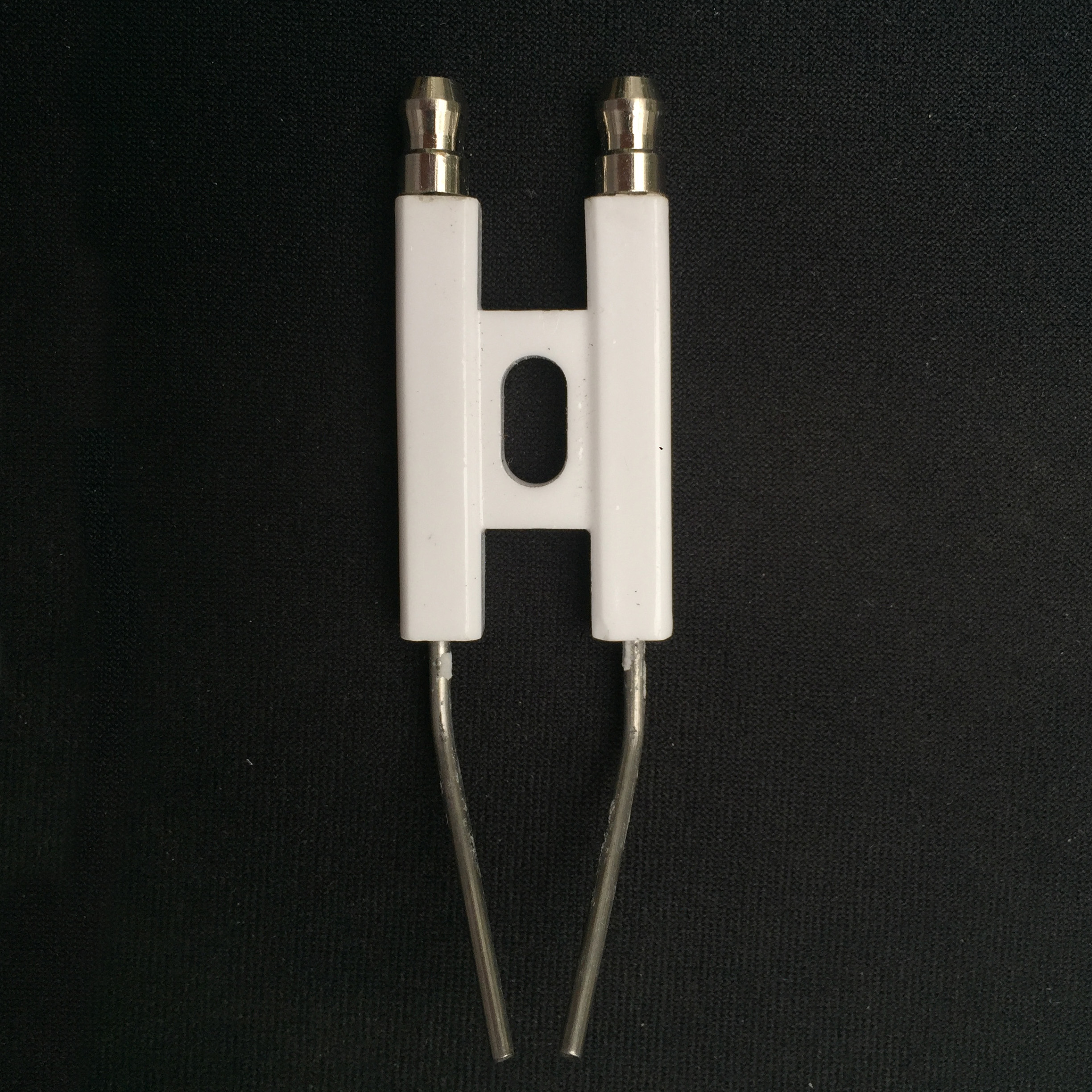 H Type Small Ignition Electrodes For Oil Burner Ceramic Electrode,double Pole Ignition Electrode, Ceramic Firing Needle