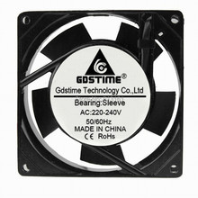 купить 1pcs Gdstime 90mm 9cm AC 220V 240V Cooling Fan Ventilator Fan  92mm x 92mm x 25mm Sleeve Bearing Axial Fans дешево