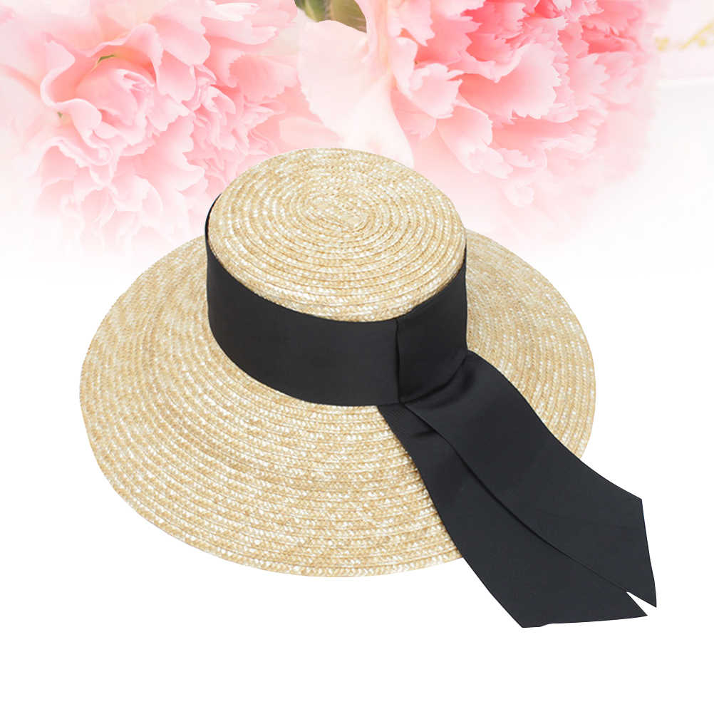 النساء أزياء اليدوية قبعة من قش الورق واسعة قبعة بحافة قبّعة مسطّحة الأشعة فوق البنفسجية حماية الصيف قبعات للحماية من الشمس شاطئ كاب