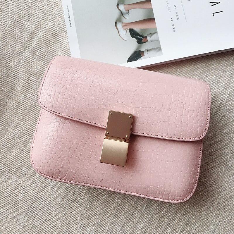 Mode Flut Tasche Hand Schulter Rindsleder Koreanischen Pink Handtasche Einzelnen 2018 Frauen Leder Geldbörse Stil Marke qXxwFRPS