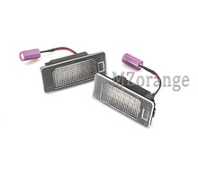 1 Pair LED Car Number License Plate Lights Number Plate Lamps Error Free for AUDI A6 C7 TTRS 2D RS5 2D A7 5D A1 A4 A5 Q5 все цены