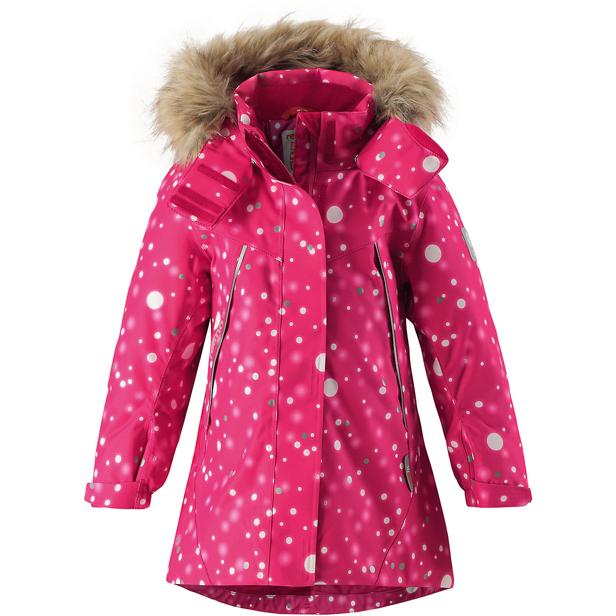 REIMA Jackets & Coats 8665515 for girls baby clothing winter warm boy girl jacket Polyester girl winter coat cotton jackets casual hooded solid warm gold velvet wadded jacket 120 160 black pink 2017 new arrival
