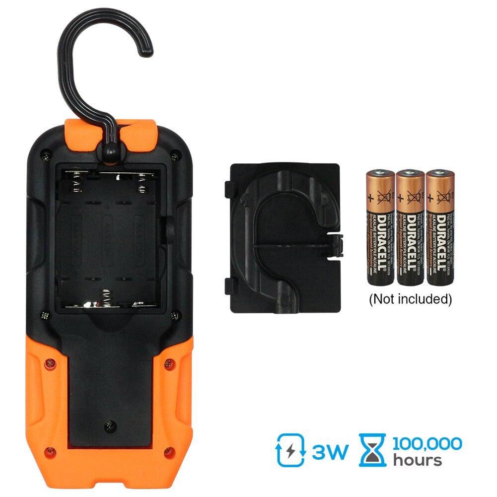 Tragbare LED Arbeit Licht 200 Lumen 5000K Tageslicht COB Taschenlampe Magnetische Basis Hängen Haken für Auto Reparatur Blackout Notfall