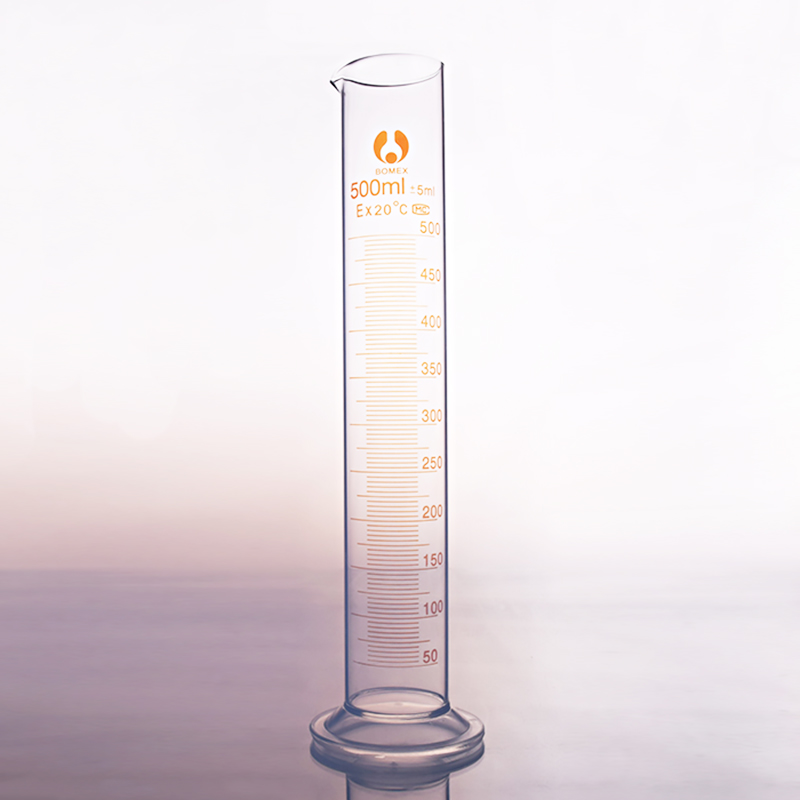 High Borosilicate Glass Measuring Cylinder,Capacity 500ml,Graduated Glass Laboratory Cylinder