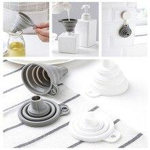 Портативные мини силиконовые складывающиеся воронки, складные телескопические воронки, воронки для кухни, кухонные инструменты Cozinha, аксессуары, гаджеты