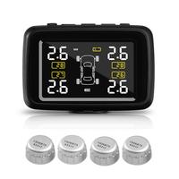 CAREUD U901 Car Wireless TPMS Tire Pressure Monitoring System with 4 External Sensors LCD Display Auto Security Alarm Systems
