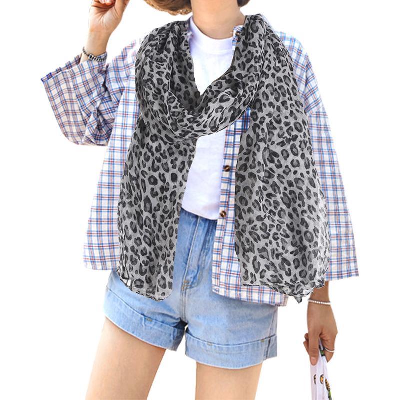 Bien éDuqué Style Européen Et Américain Femmes Bali Fil Léopard écharpe Mode Solide Couleur Léopard Imprimé Sauvage Foulard En Soie Châle Pour Femme Facile à Utiliser