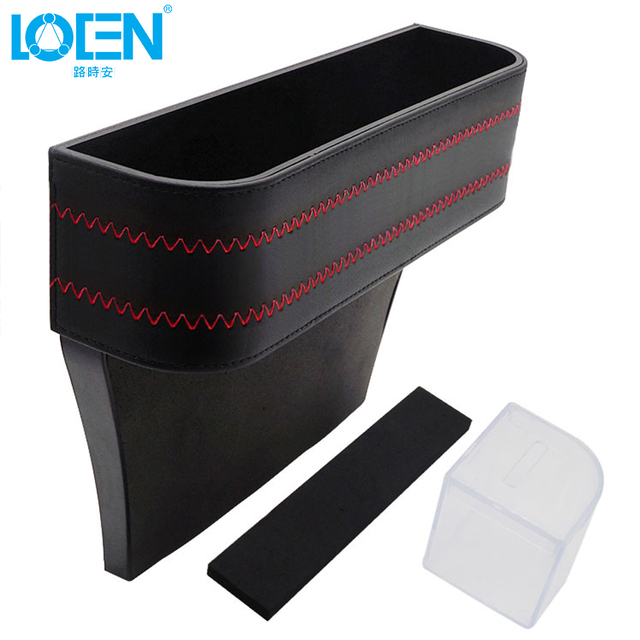 LOEN 1PC Car Styling Stowing Tidying Armrest Car Seat Crevice Storage Box Cup Drink Holder Organizer Auto Gap Pocket Phone Pad