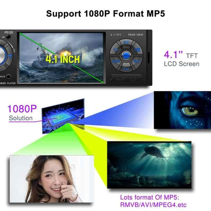 """VODOOL P5120 1DIN カーラジオ 4.1 """"タッチスクリーンステレオビデオ MP5 プレーヤー Autoradio FM Bluetooth USB TF AUX カメラマルチメディアプレーヤー"""
