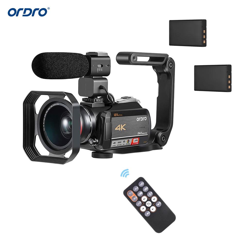 ORDRO AC5 3 1 Inch IPS 24MP 12X WiFi Digital Video Camera Camcorder w 0 39X