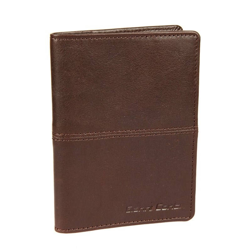 Passport cover Gianni Conti 1137455E dark brown passport cover o 23 sh brown