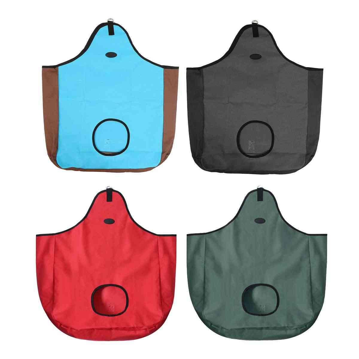 Taşınabilir yavaş besleme Hay çanta besleyici kılıfı delikli delik azaltmak Wa çiftlik malzemeleri açık at binme saman depolama net