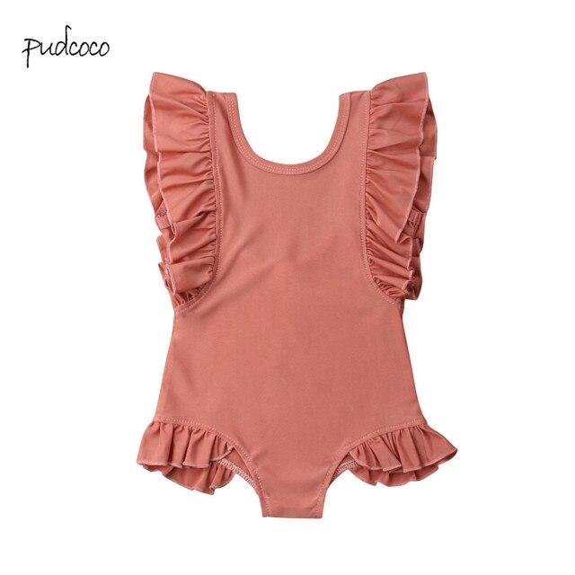 Pudcoco חדש מותג חמוד יילוד פעוטות ילדי תינוקת בגדי ים בגד גוף