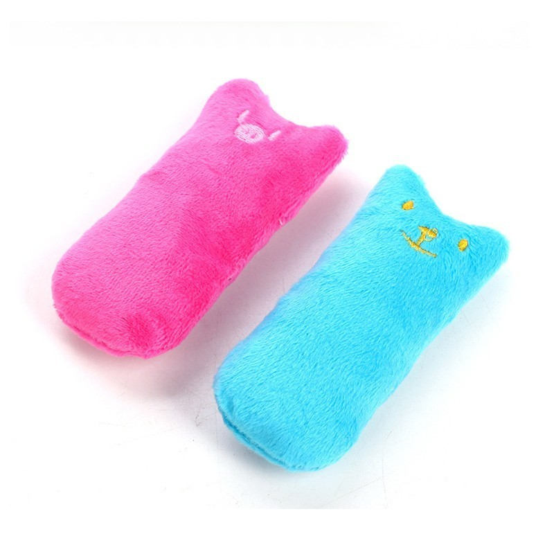 Catnip Plush Cat Toy Cute Pillow Funny Interactive Pet Kitten Chew Toy Teeth Grinding Toys Claws Thumb Bite Scratch Cat Supplies in Cat Toys from Home Garden