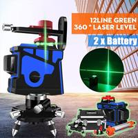12Line Green 360 Degree Laser Level Wall Mounts IP54 Auto Leveling Horizontal Vertical Laser Beam With Tripod Indoor/Outdoor