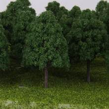 25Pcs Model Trees Mixed Model Tree Train Trees Railroad Scenery Diorama Tree Architecture plants for DIY Scenery Landscape(China)