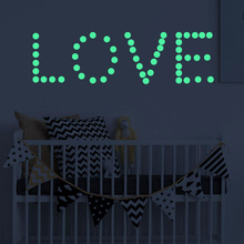 400PCS Luminous Round Dot DIY Switch Sticker Wall Decoration Fluorescent Living Room Children Ceiling Home Decor