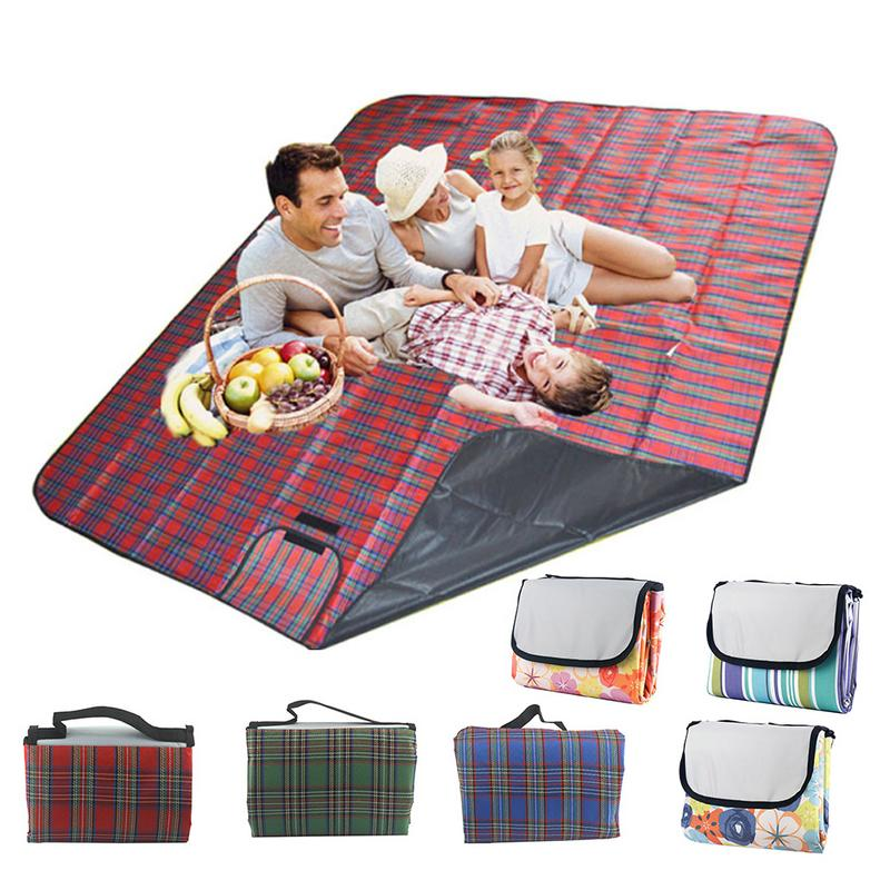 Large Picnic Blanket Family Waterproof Camping Rug Folding ...