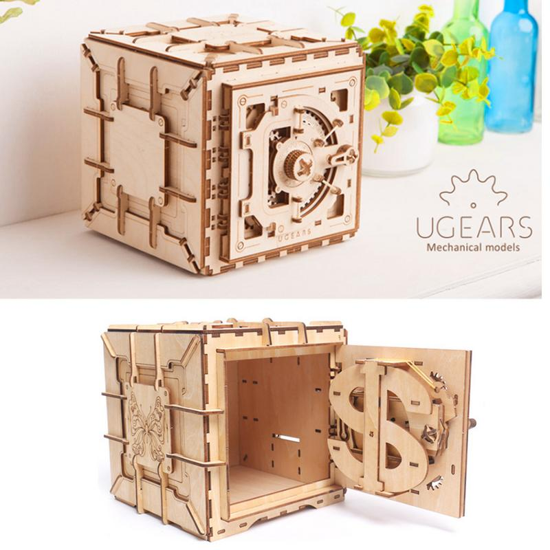 3D Innovative Wooden Jigsaw Puzzle Treasure Box Girl Storage Jewelry Box Mechanical UGEARS Model Valentine's Day Creative Gifts