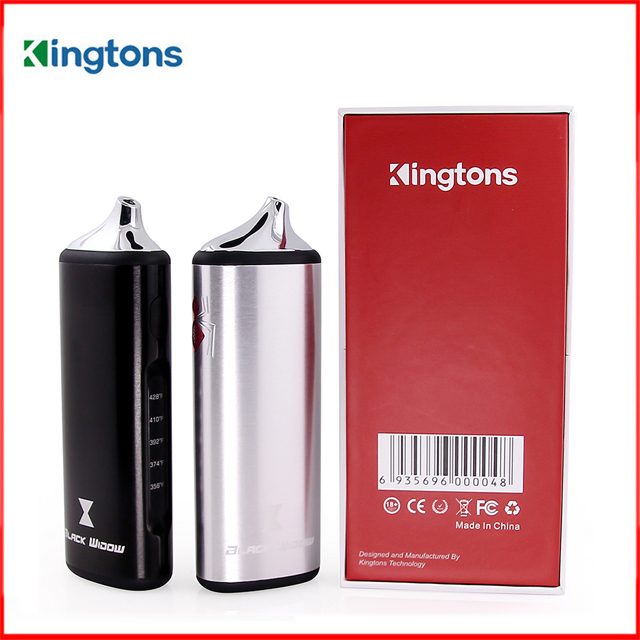 E Cigarette Original Kingtons Black Widow Dry Herb Herbal Vaporizer Vape Kit Wax Vapor 2200mAh Ceramic