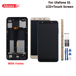Image 1 - Alesser ل Ulefone S1 شاشة الكريستال السائل و شاشة تعمل باللمس مع الإطار الجمعية إصلاح أجزاء ل Ulefone S1 برو LCD + أدوات و لاصق