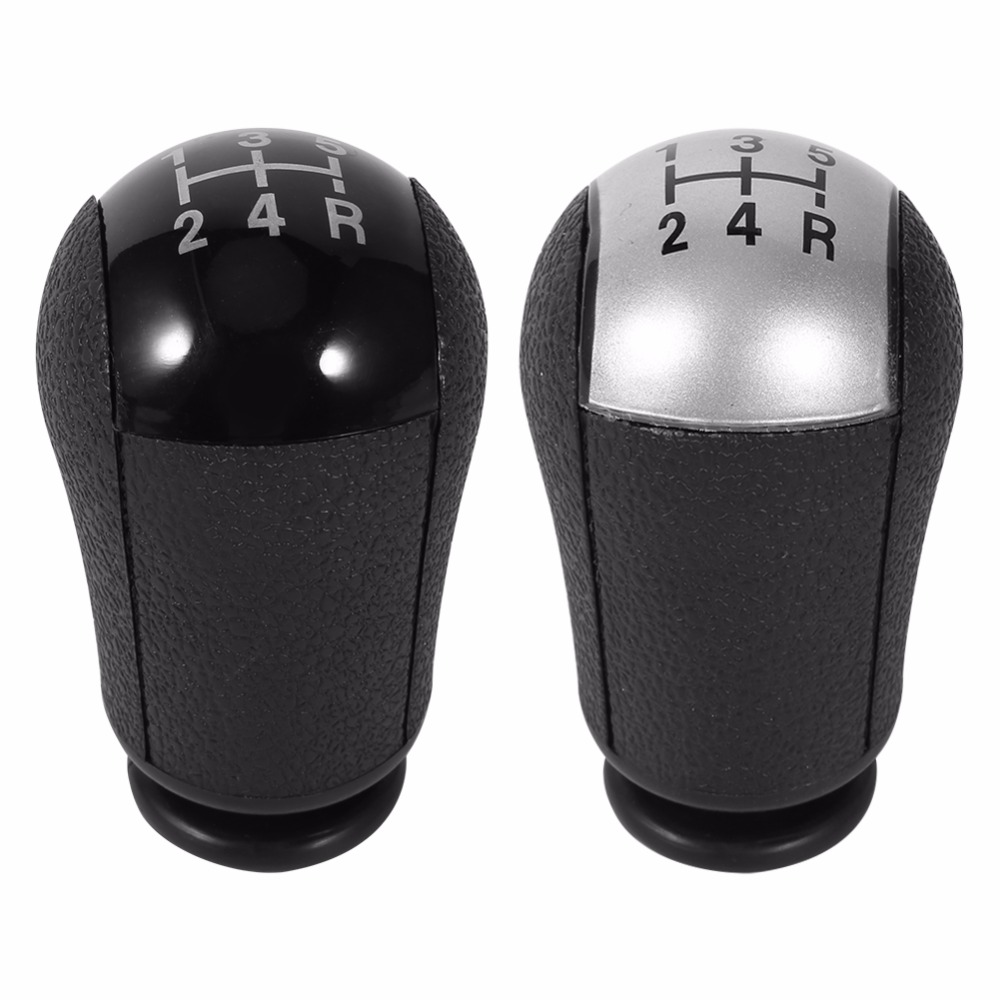 5 Speed MT Gear Stick Shift Knob Car For Ford Focus Mondeo MK3 S MAX C MAX Mustang Galaxy Fiesta MK6 Transit Black Silver Colors in Gear Shift Knob from Automobiles Motorcycles